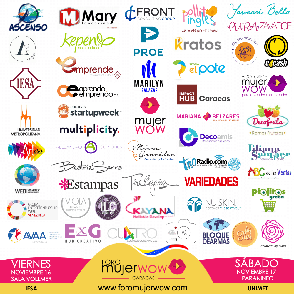 sponsors - FORO MUJER WOW 2018 - CARACAS